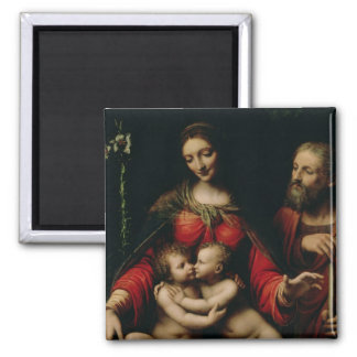 The Holy Family with the Infant St. John Square Magnet
