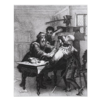 The Invention of Printing, 1827 Poster