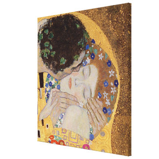 The Kiss, 1907-08 Stretched Canvas Print