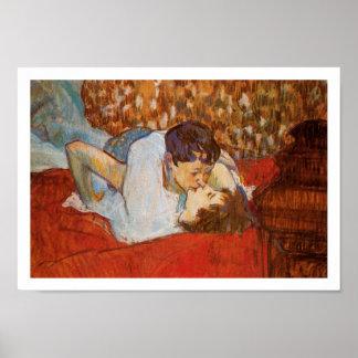 The Kiss - Art Poster - Henri de Toulouse-Lautrec