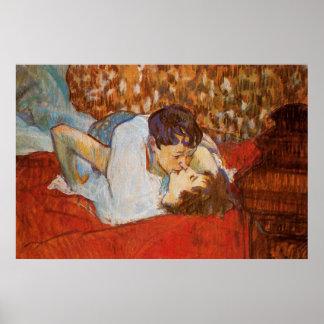 The Kiss - Poster by Henri de Toulouse-Lautrec
