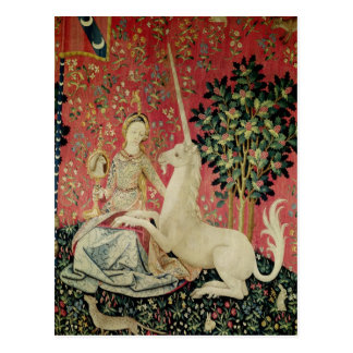 The Lady and the Unicorn: 'Sight' Postcard
