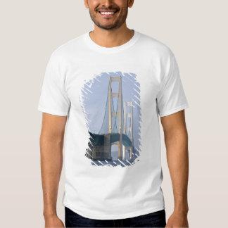 The Mackinac Bridge spanning the Straits of T Shirt