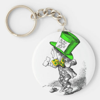 The Mad Hatter Basic Round Button Key Ring