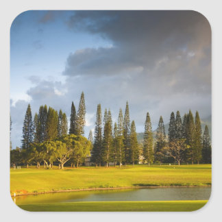 The Makai golf course in Princeville 2 Square Sticker