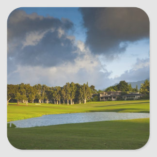 The Makai golf course in Princeville 4 Square Sticker