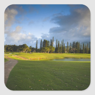 The Makai golf course in Princeville Square Sticker