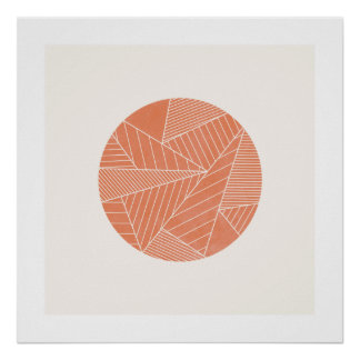 The Minimalist Art Print - Salmon
