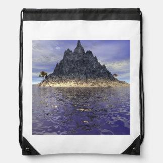 The Mountain Island Drawstring Bag