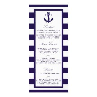 The Nautical Anchor Navy Stripe Wedding Collection Full Color Rack Card
