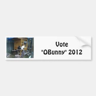 """The """"OBunny"""" Camp Bumper Sticker"""