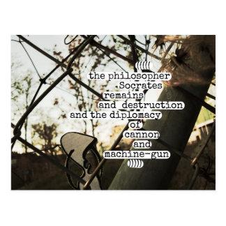the philosopher Socrates remains and destruction Postcard