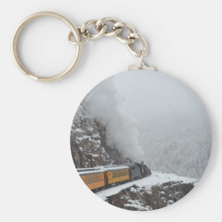 The Polar Express Rounds the Bend Basic Round Button Key Ring