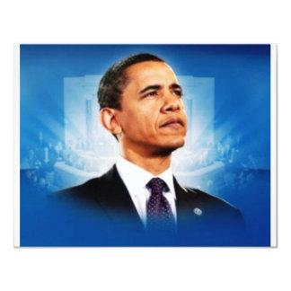 The President Obama 11 Cm X 14 Cm Invitation Card
