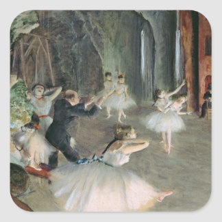 The Rehearsal of the Ballet on Stage, c.1878-79 Square Sticker