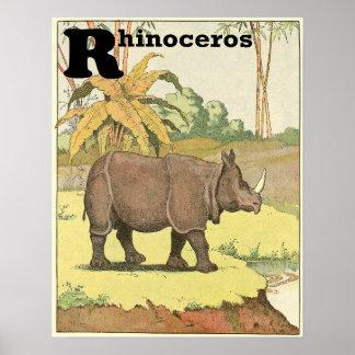 The Rhinoceros Storybook Alphabet Poster