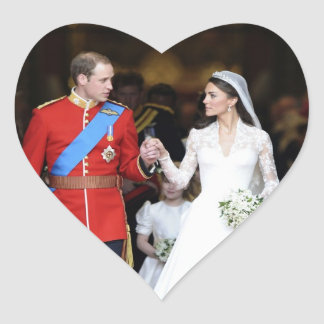 The Royal Wedding 8 Heart Sticker
