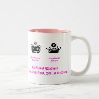 The Royal Wedding Mug with Time and Date of weddin