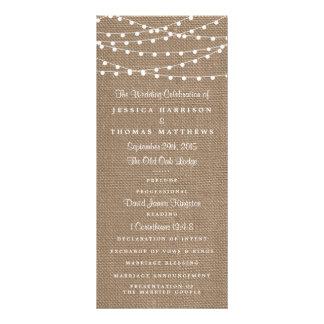 The Rustic Burlap String Lights Wedding Collection 10 Cm X 23 Cm Rack Card