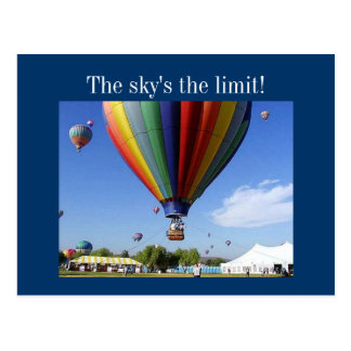 The Sky's the Limit! Postcard
