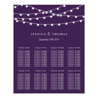 The String Lights On Purple Wedding Collection Poster