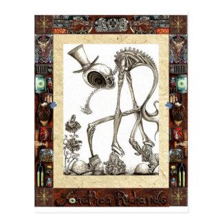 The stroll framed postcard