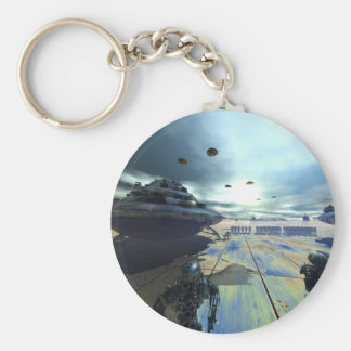 the super disk basic round button key ring
