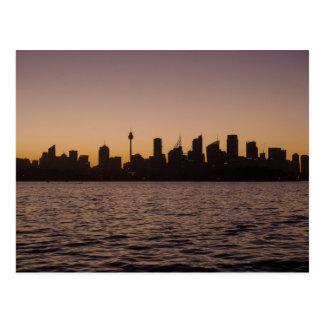 The Sydney Skyline at dusk - Postcard