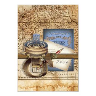 The Traveller RSVP Cards 9 Cm X 13 Cm Invitation Card