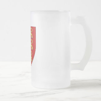 The treis cats frosted glass mug