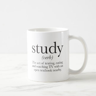 The truth about studying basic white mug