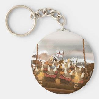 The Vikings Basic Round Button Key Ring