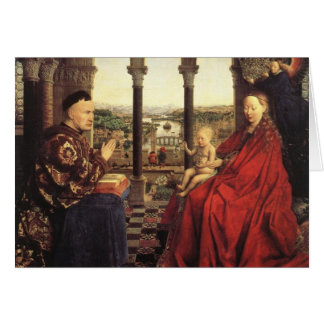 The Virgin of Chancellor Rolin by Jan van Eyck Greeting Card