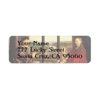 The Virgin of Chancellor Rolin by Jan van Eyck Return Address Label