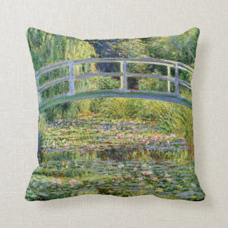 The Water-Lily Pond by Monet Fine Art Throw Cushion