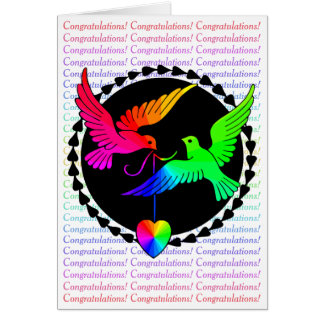 The Whole of the Rainbow Gay Congratulations Card
