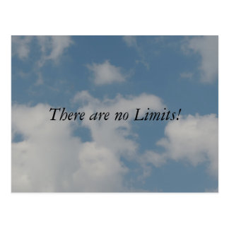 There are no limits postcard