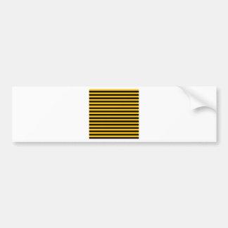 Thin Stripes - Black and Amber Bumper Sticker