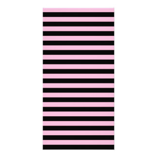 Thin Stripes - Black and Cotton Candy Picture Card