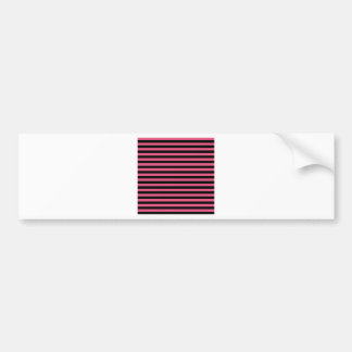 Thin Stripes - Black and Dark Pink Bumper Sticker