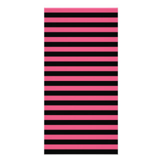 Thin Stripes - Black and Dark Pink Picture Card