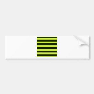 Thin Stripes - Black and Fluorescent Yellow Bumper Sticker