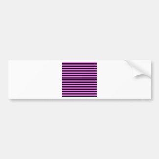 Thin Stripes - Black and Ultra Pink Bumper Sticker