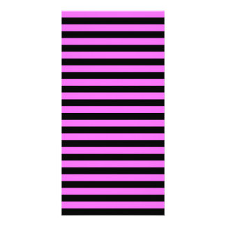 Thin Stripes - Black and Ultra Pink Picture Card