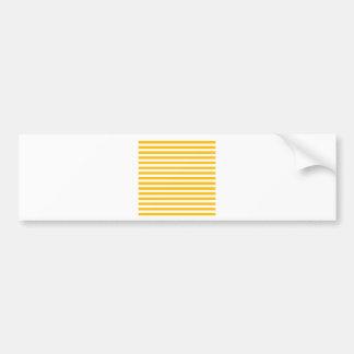 Thin Stripes - White and Amber Bumper Sticker