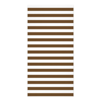 Thin Stripes - White and Dark Brown Personalised Photo Card