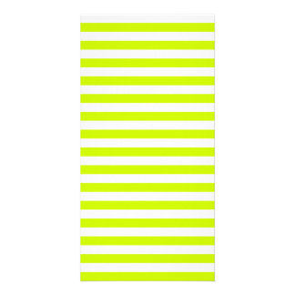 Thin Stripes - White and Fluorescent Yellow Personalised Photo Card