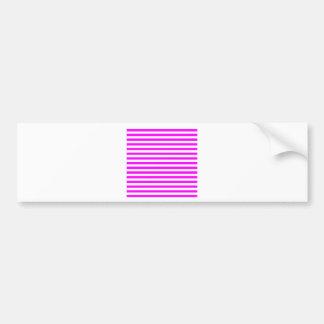 Thin Stripes - White and Fuchsia Bumper Sticker
