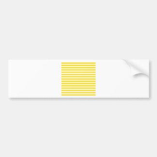 Thin Stripes - White and Golden Yellow Bumper Sticker