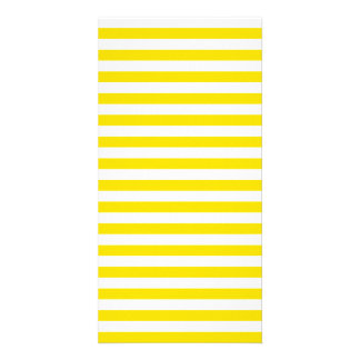 Thin Stripes - White and Golden Yellow Custom Photo Card